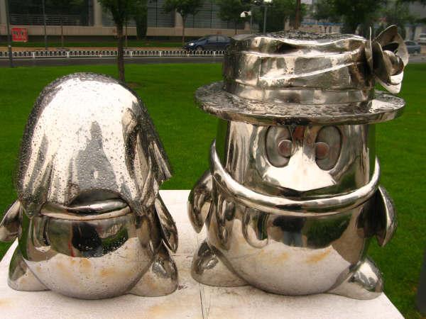 清华科技园的雕塑展