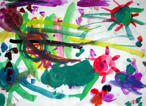 孔雀动物水彩笔