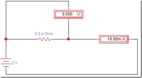 画个最简单的电路图